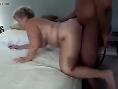 Mature mom interracial doggystyle cuckold