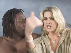 Blond whitey hot wife in nightclothes gets big black dick ir anal