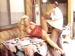 Gorgeous blonde hotwife interracial retro cheating