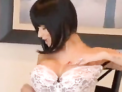 Brunette milf with big tits gets fucked by BBC