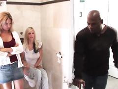 Beautiful blonde milf Savanna Samson gets brutally blacked