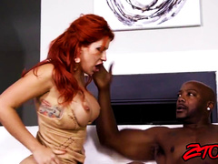 Ginger Milf gets brutally pounded by black cock