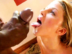White wife worships BBC cum